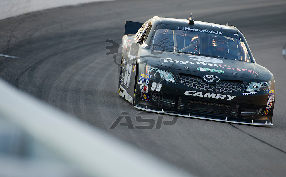 NEWTON, IA - July 03, 2012: Brett Moffitt (99) during the final practice for the U.S. Cellular 250 race at Iowa Speedway in Newton, IA.