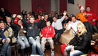 Photo: Paul Thomas.<br /> Photography of Norwegian Liverpool supporters at Anfield. 04/03/2007.<br /> <br /> Ex Liverpool players John Aldridge (C) and Alan Kennedy (White) pose for some photo's in-front of some Norwegin Liverpool Supporters Club members in Aldridges pub, Liverpool.