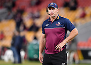 Reds coach Brad Thorn is seen before the Round 2 Trans-Tasman Super Rugby match between the Queensland Reds and the Canterbury Crusaders at Suncorp Stadium in Brisbane, Saturday, May 22, 2021. (AAP Image/Darren England) NO ARCHIVING, EDITORIAL USE ONLY