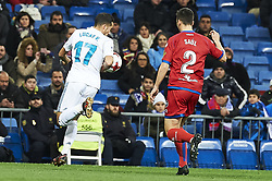 January 10, 2018 - Madrid, Madrid, Spain - Lucas Vazquez (midfielder; Real Madrid) during Copa del Rey match between Real Madrid and Numancia, Round 8 match, at Santiago Bernabeu on January 10, 2018 in Madrid (Credit Image: © Jack Abuin via ZUMA Wire)