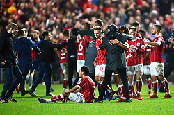 Bristol City players and fans celebrate as they beat Manchester United 2-1 - Mandatory by-line: Dougie Allward/JMP - 20/12/2017 - FOOTBALL - Ashton Gate Stadium - Bristol, England - Bristol City v Manchester United - Carabao Cup Quarter Final