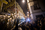 The climax of the week's procession is La Madrugá (dawn), on the night of Holy Thursday. The order of passage of the brotherhoods occurs in relation to the antiquity in which they joined the processions.It's 3.30am when la Macarena passes through Santa Rufina in the centre of Seville on Holy Friday. Andalusia, Spain