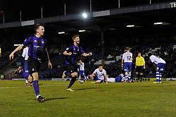 Bristol Rovers' Matt Harrold celebrates Bristol Rovers' equalising goal - Photo mandatory by-line: Dougie Allward/JMP - Mobile: 07966 386802 01/04/2014 - SPORT - FOOTBALL - Bury - Gigg Lane - Bury v Bristol Rovers - Sky Bet League Two