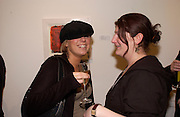 Natalie Bruce and Sara Crystal, Private view of 40 limited edition prints especially created by Howard Hodgkin for Elton John AIDS Foundation, Alan Christea Gallery, 6 February 2003. All proceeds from the evening benefit Elton John AIDS Foundation.© Copyright Photograph by Dafydd Jones 66 Stockwell Park Rd. London SW9 0DA Tel 020 7733 0108 www.dafjones.com