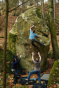 Pete Robins on Pirouette Cacaouette,  7c, Mare aux Corneilles, Fontainebleau