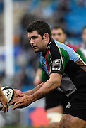 Twickenham, GREAT BRITAIN, Nick EASTER, loks to pass the ball, during the Guinness Premieship match, NEC Harlequins vs Bristol Rugby, at the Twickenham Stoop Stadium, England, on Sat 24.02.2007  [Photo, Peter Spurrier/Intersport-images].....
