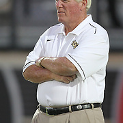 UCF head coach George O'Leary during an NCAA football game between the Boston College Eagles and the UCF Knights at Bright House Networks Stadium on Saturday, September 10, 2011 in Orlando, Florida. (AP Photo/Alex Menendez)