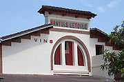 Winery building. Cave cooperative Etoile. Banyuls sur Mer, Roussillon, France