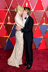 Nicole Kidman and Keith Urban arriving at the 89th Academy Awards held at the Dolby Theatre in Hollywood, Los Angeles, USA.
