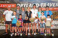 Fairview Dryland Traverse Mixed Category generall classification podium. From left to right: Donal Mouton (Fairview Wines, Sponsor), Rodolf van Rensburg and Janie van Rensburg (3rd Toroise and the Hare), Landie Greyling and Christiaan Greyling (1st Salomon), Iain Don-Wauchope and Su Don-Wauchope (2nd Over the Hill[Billies]). 6 November 2016.<br /> <br /> <br /> Photo by: Oakpics/Fairview Dryland Traverse/SPORTZPICS<br /> <br /> <br /> {dem16gst}