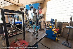 The studio of metal artist Kendall Polster, also known as the Weld Guy, during the Milwaukee Rally . Milwaukee, WI, USA. Monday, September 5, 2016. Photography ©2016 Michael Lichter.