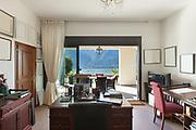 Interior of house, desk of a studio, classic decor
