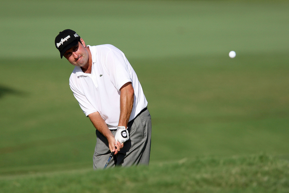 09 August 2007: Jose Maria Olazabal hits out of the rough on the 3rd hole during the first round of the 89th PGA Championship at Southern Hills Country Club in Tulsa, OK.