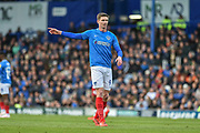 Portsmouth Forward, Oliver Hawkins (9) during the EFL Sky Bet League 1 match between Portsmouth and Accrington Stanley at Fratton Park, Portsmouth, England on 4 May 2019.