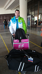 Tomaz Razinger, ice hockey player of Slovenia in Sochi, Russia, on February 4, 2014.