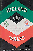 Rugby 1962 - 17/11 Five Nations Ireland Vs Wales