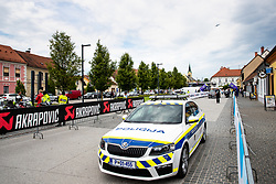A police car at the start during 2nd Stage of 27th Tour of Slovenia 2021 cycling race between Zalec and Celje (147 km), on June 10, 2021 in Slovenia. Photo by Matic Klansek Velej / Sportida