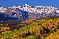 West Elk Mountains during the autumn season, Colorado.