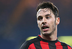 20 December 2017 - Carabao League Cup Football (Quarter-Final) - Chelsea v Bournemouth - Strings of spit can be seen in the open mouth of Adam Smith of Bournemouth - Photo: Charlotte Wilson / Offside