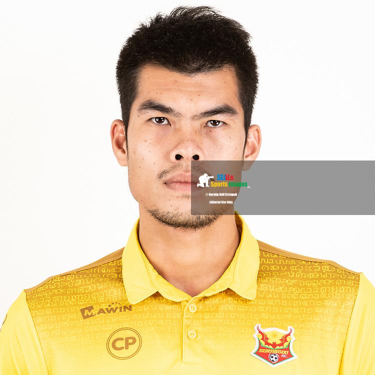 THAILAND - JUNE 29: Narongrit Boonsuk #4 of Sukhothai FC on June 29, 2019.<br /> .<br /> .<br /> .<br /> (Photo by: Naratip Golf Srisupab/SEALs Sports Images/MB Media Solutions)