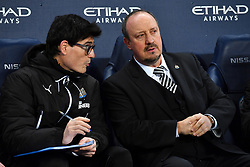 Newcastle United manager Rafael Benitez in the dugout