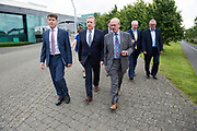 11/07/2017  REPRO FREE:   Dr Rick officer VP for research GMIT,  Minister of State Pat Breen, Department of Enterprise and Innovation, Mr George McCourt  Head of innovation GMIT,   on a visit to the iHub and GMIT . Photo:Andrew Downes, xposure .