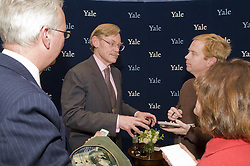 Robert B. Zoellick, president, World Bank, being interviewed by reporters after the public lecture-interview with Ernesto Zedillo, director, Yale Center for the Study of Globalization. Luce Center, Yale University, New Haven, CT