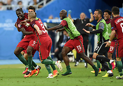 Eder of Portugal celebrate's scoring the only and winning goal of the game in extra time  - Mandatory by-line: Joe Meredith/JMP - 10/07/2016 - FOOTBALL - Stade de France - Saint-Denis, France - Portugal v France - UEFA European Championship Final