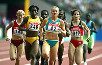 Friidrett, 23. august 2003, VM Paris,( World Championschip in Athletics),  Tamsyn Lewis, Australia, og Tina Paulino (749)
