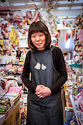 Portrait of a shop assistant in Daegu, South Korea.