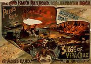 Mexican War, Siege of Vera Cruz. Title: Pain's great war spectacle, Mexican War, Siege of Vera Cruz Other Title: Siege of Veracruz. c1890.