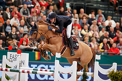STAUT Kevin (FRA), Ayade de Septon et HDC<br /> Leipzig - Partner Pferd 2018   <br /> Longines FEI World Cup Jumping Qualifikation    <br /> © www.sportfotos-lafrentz.de/Stefan Lafrentz