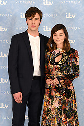 Tom Hughes and Jenna Coleman attending the Season 2 Premiere of ITV's Victoria held at the Ham Yard Hotel, London. Picture date: Thursday 24th August, 2017. Photo credit should read: Doug Peters/EMPICS Entertainment
