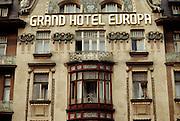 Prague, Czech Republic. Grand Hotel Europa. In Wenceslas Square.