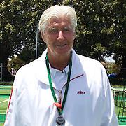 John Powless, USA, SIlver Medal Winner 75 Mens Singles Final during the 2009 ITF Super-Seniors World Team and Individual Championships at Perth, Western Australia, between 2-15th November, 2009