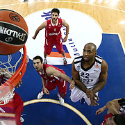 Anadolu Efes's Alfred Jamon Lucas (2ndR) during their Turkish Airlines Euroleague Basketball playoffs Game 3 Anadolu Efes between Olympiacos at Abdi ipekci Arena in Istanbul, Turkey, Wednesday, April 17, 2013. Photo by Aykut AKICI/TURKPIX