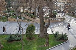People Walking In Filarmoniya Park
