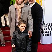 NLD/Amsterdam/20120211 - Premiere Tony 10, Michael Angelo Schoop met zoontje en Kees Jan de  Jager