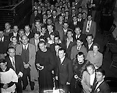 1954 Unveiling of Statue by Fr Cassian OFM for 'Liberty' at transport house