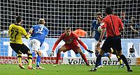 Fotball<br /> Tyskland<br /> Foto: Witters/Digitalsport<br /> NORWAY ONLY<br /> <br /> 0:1 Tor v.l. Torschuetze Gonzalo Castro (Dortmund), Per Ciljan Skjelbred<br /> Berlin, 20.04.2016, Fussball, DFB-Pokal, Halbfinale, Hertha BSC Berlin - Borussia Dortmund<br /> Rune Jarstein