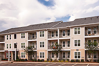 Exterior photo of Post Parkside at Wade apartments in Raleigh North Carolina by Jeffrey Sauers of Commercial Photographics