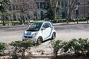 CAR2GO smart car, car sharing, Madrid, Spain
