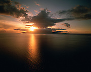 Lanai at sunset, Maui, Hawaii, USA<br />