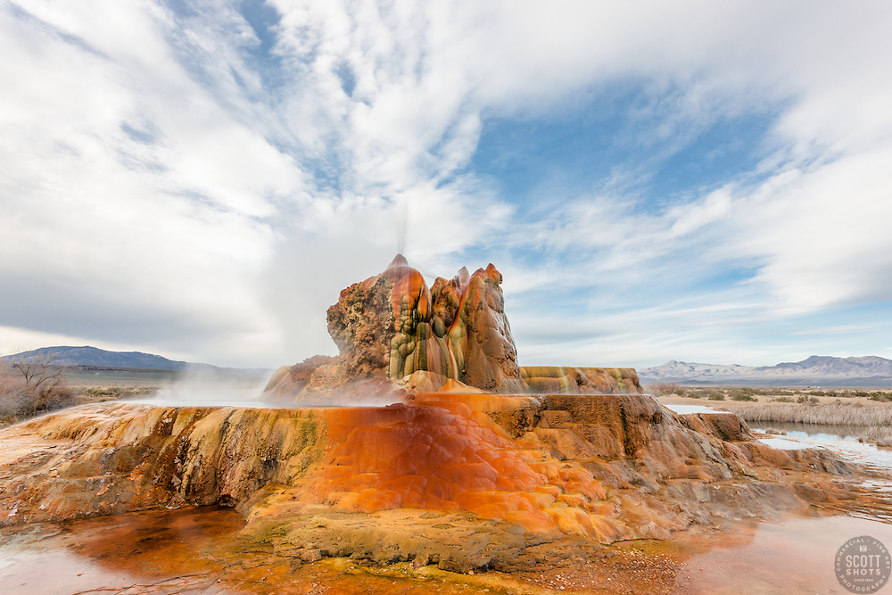 """""""Fly Geyser 3"""" - Photograph of the famous man made Fly Geyser in Nevada."""