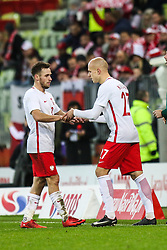 November 13, 2017 - Gdansk, Poland - Maciej Rybus (POL), Rafal Kurzawa during the International Friendly match between Poland and Mexico at Energa Stadium in Gdansk, Poland on November 13, 2017. (Credit Image: © Foto Olimpik/NurPhoto via ZUMA Press)