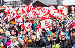28.02.2019, Seefeld, AUT, FIS Weltmeisterschaften Ski Nordisch, Seefeld 2019, Nordische Kombination, Team Sprung, im Bild Fans // Spectators during Team Jumping competition for Nordic Combined of FIS Nordic Ski World Championships 2019. Seefeld, Austria on 2019/02/28. EXPA Pictures © 2019, PhotoCredit: EXPA/ JFK