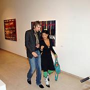 NLD/Amstelveen/20061016 - Expositie opening schilderijen Ruud de Wild, Ruud en partner Aafke Burggraaff
