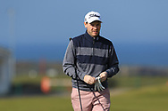Gary McDermott on the 1st tee during Round 4 of The West of Ireland Open Championship in Co. Sligo Golf Club, Rosses Point, Sligo on Sunday 7th April 2019.<br /> Picture:  Thos Caffrey / www.golffile.ie