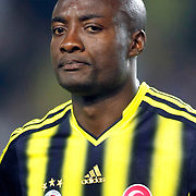 Fenerbahce's Pierre Achille Webo Kouamo during the UEFA Champions League Play-Offs First leg soccer match Fenerbahce between Arsenal at Sukru Saracaoglu stadium in Istanbul Turkey on Wednesday 21 August 2013. Photo by Aykut AKICI/TURKPIX