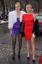 Chiara Ferragni, Valentina Ferragni arriving at the Alexandre Vauthier Haute Couture Spring/Summer 2019-2020 show as part of Paris Fashion Week on January 22, 2019 in Paris, France. Photo by Julien Reynaud/APS-Medias/ABACAPRESS.COM